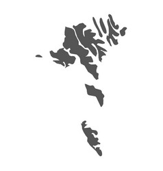 Faroe islands map black icon on white background vector