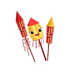 Fireworks Kids Birthday Party Happy Smiling vector image