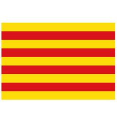 Flag of catalonia autonomous community in spain vector
