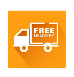 Free delivery car icon button stock vector
