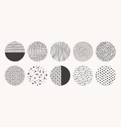 Geometric doodle shapes spots dots circles vector
