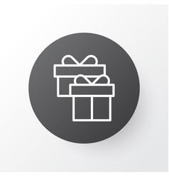 Gift box icon symbol premium quality isolated vector