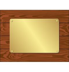 Goldenl plate vector