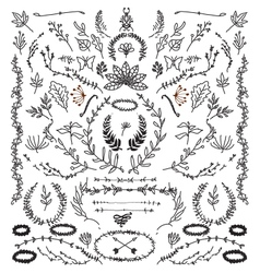 Hand Drawn Vintage design elements vector image