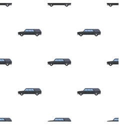 Hearse icon in cartoon style isolated on white vector