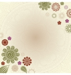 Henna elements greeting card vector