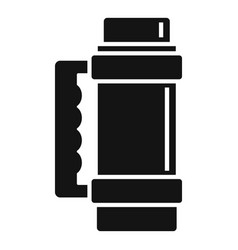Hot thermos bottle icon simple style vector