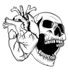 Human heart icon in cartoon style real disease vector