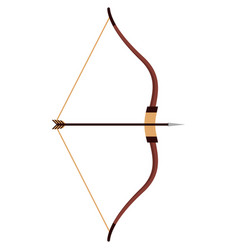 indian arrow and bow isolated on white vector image