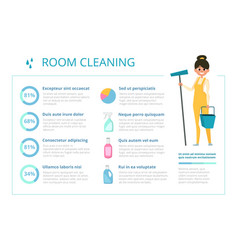 Infographic design template for cleaning service vector