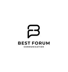 Initial letter fb bf logo design vector