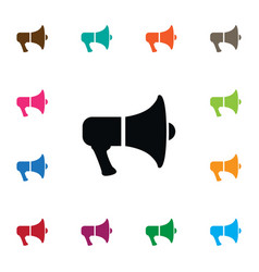 Isolated amplification icon megaphone vector