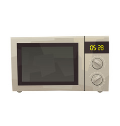 Isolated cartoon microwave on white background vector