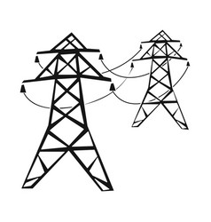 Isolated object line and electric icon vector