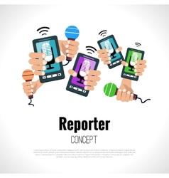 Journalist reporter concept vector image