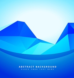 Low poly abstract shapes vector