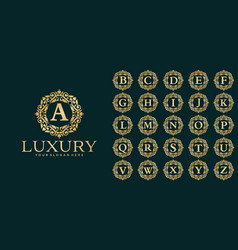 luxury letter logo template vector image