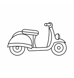Motorbike icon outline style vector image