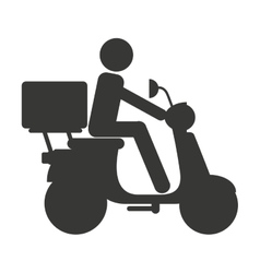 motorcycle delivery food isolated icon vector image
