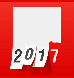 New year 2017 greeting card vector