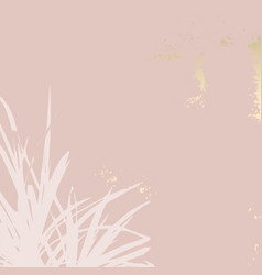 Nude beige blush background with touch gold vector