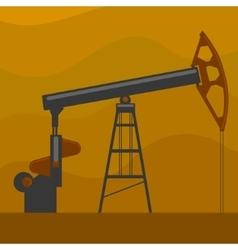 Oil well cartoon vector image