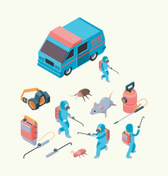 pest examination insects dezinfection service vector image