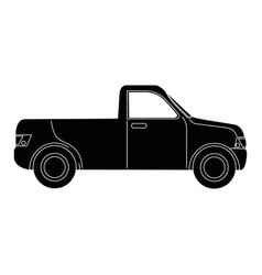 pickup vehicle isolated vector image