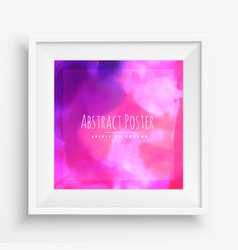 pink purple abstract ink cloud vector image