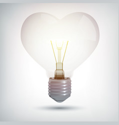 realistic illuminated electric bulb concept vector image