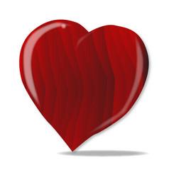Red wooden heart vector