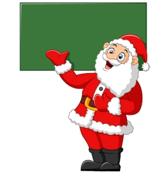 santa presenting and blank sign vector image