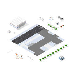 set isometric objects vector image