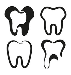 Set of dental icons vector image