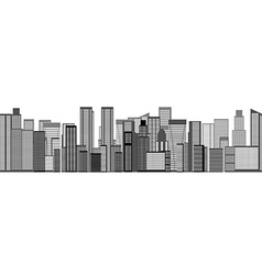 Skyline City Seamless Background vector image