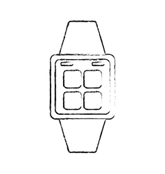 Smart watch wearable technology vector