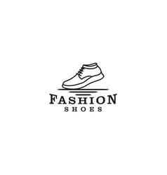 Sneaker logo - for shoe stores or outdoor vector