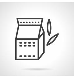 Soy milk black line icon vector image