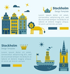 Stockholm banner design elements vector