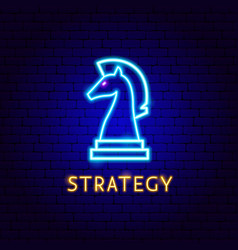 Strategy neon label vector