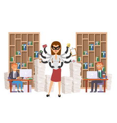 superhero business people worker came to rescue vector image