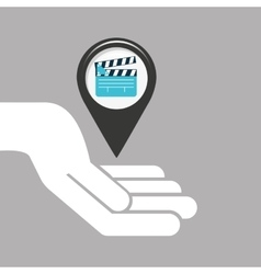 Symbol cinema icon clapper movie design vector