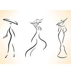 Symbolic stylized woman vector image