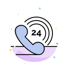 Telephone phone ringing 24 abstract flat color vector
