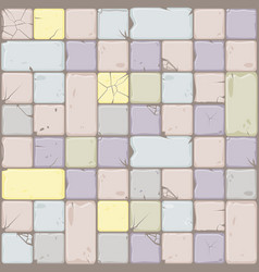 texture of pastel colors stone tiles seamless vector image