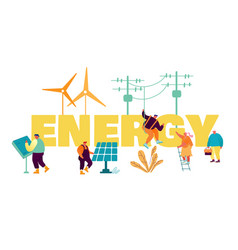 Traditional and innovation energy development vector