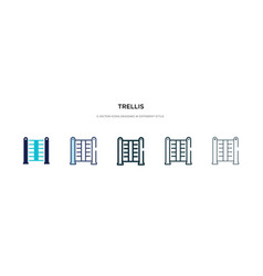 Trellis icon in different style two colored and vector