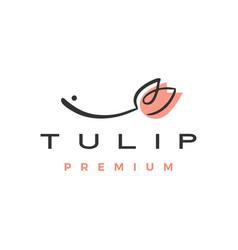Tulip flower logo icon vector