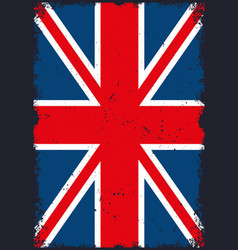 united kingdom flag vertical template vector image