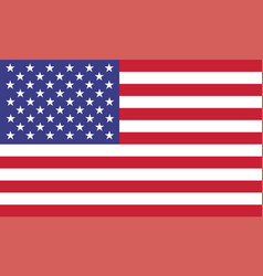 Usa flag official colors and proportion correctly vector